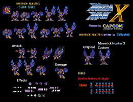 Megaman Maverick Hunter X Style Storm Eagle by Collecter128