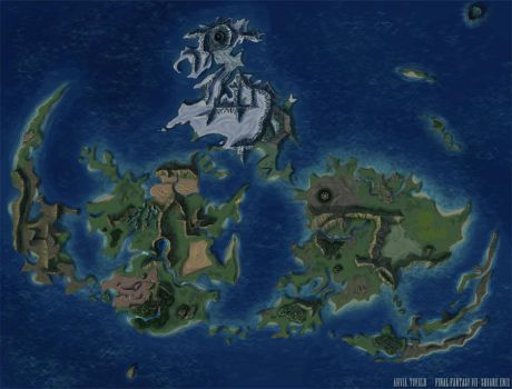 Final Fantasy VII World Map by Ahvia
