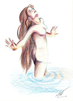 Water Lady - Pencil Test 1 by stormthor