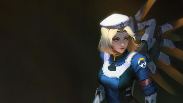 Uprising Mercy Wallpaper (1080p) by Asainguy444