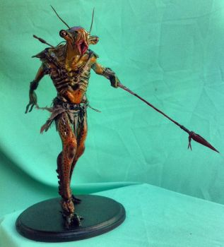 Creature maquette final by Cleytonoliveira