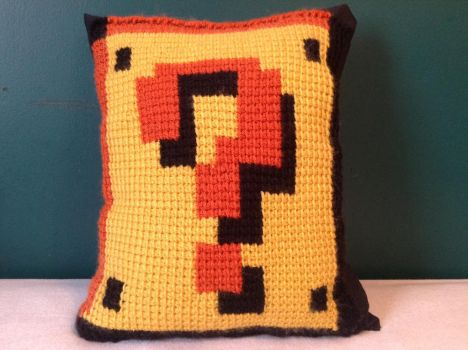 Mario Hit Box Pillow by Ladybug-creations