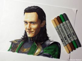 Loki (marker color test) by Quelchii