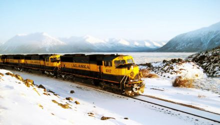 train chasing down the Seward by mrthis