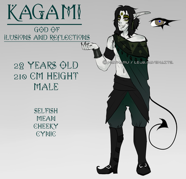 Kagami reference sheet by Haykaru