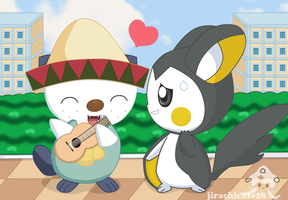 oshawott  and emolga