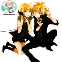 Kagamine Rin and Len - Render Remote Control by xNyanGirl-o3o
