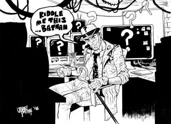 RIDDLER Commission by JakeSmithArt