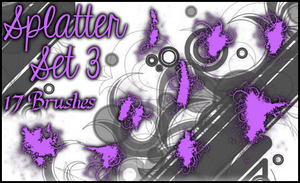 Splatter Brushes Set 3 by Illyera