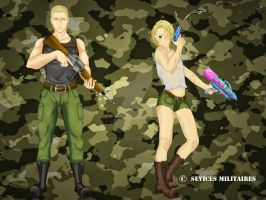 Watergun Battle by sevices-militaires