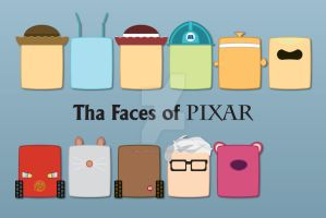 The Faces of PIXAR by WillZMarler
