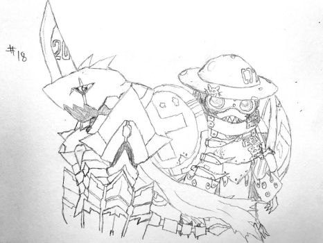 Digimon Sketch Challenge: Day #18 by Omnimon1996