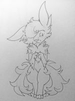 Inktober 2016: Day 12 -Worried little furball- by Thwill