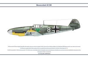 Bf 109 F-2 JG54 1 by WS-Clave