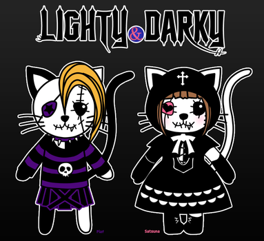 LIGHTY y DARKY by dorremichi
