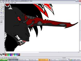Baal faceshot -unfinished- by Siren1