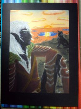 finished Drizzt by PurplePastelChalk
