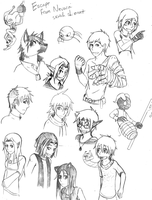 EfN: Character Sketches by Napalm-Otaku
