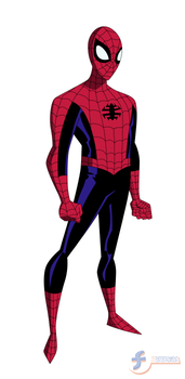 Spider-Man - Bruce Timm style by JTSEntertainment