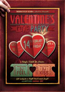 Valentine's Poster Template by TheCreativeCatDesign