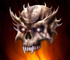 spiked skull by arcaneserpent