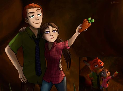Zootopia Humanization Redraw by LilianMuttonfudge