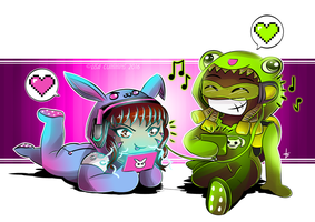 Onesiewatch - D.Va + Lucio by BaGgY666