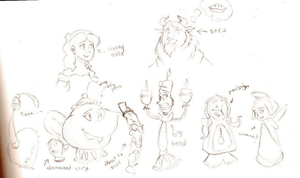 Beauty and the Beast sketches by SeltzerAddict