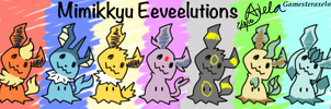 Mimikyu Eeveelutions by GAmesterAxela