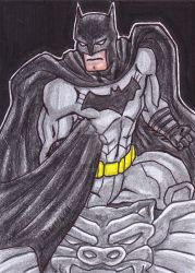 Batman Sketch Card by NaGaSaNe