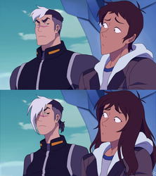 Voltron Shiro and Lance Genderbend by CrazyColorBurst