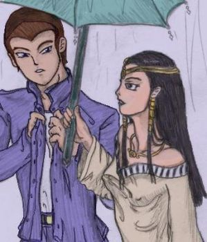 Honda and Isis - Umbrella by Chys