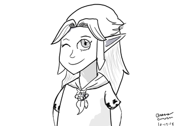 Linktober Day 19: Link's Admirers: Malon (Young) by GreenLightning1992