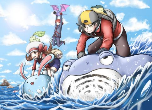 Pokemon: PokeSURF by Kamaniki