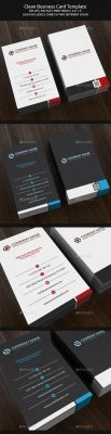 Clean Business Card Template by aykutfiliz
