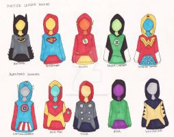 Superhero Hoodies are Cool by AironKennell
