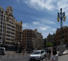 Valencia out rail way station Panorama 016 by fueledbyfreestock