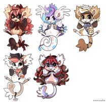 Chibi Beans by Snorechu