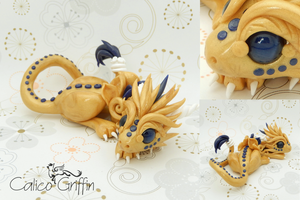 Dragon - Estrella serie - polymer clay by CalicoGriffin