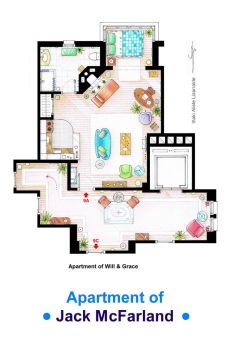 Jack McFarland's apartment form 'Will and Grace' by nikneuk