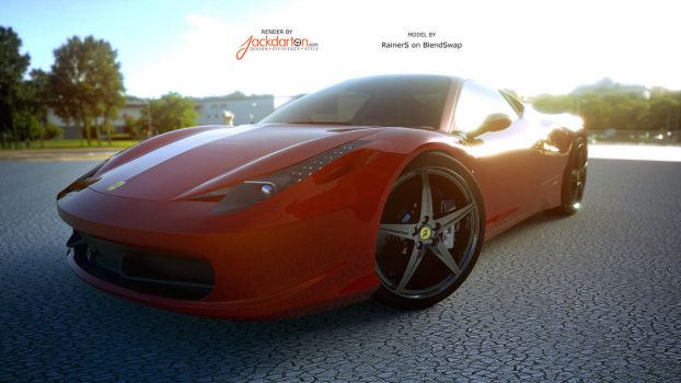 Another 458 render by jackdarton