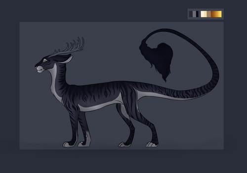 Feline/Dragon/Cervid Hybrid Auction [OPEN] by TheAdoptArtist