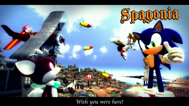 Sonic Spagonia Wish You Were Here Card. by shadow759