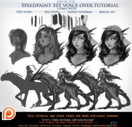 Speedpaint 101 voice over tutorial .promo. by sakimichan