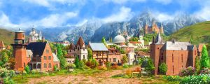 Medieval village2_day by inSOLense