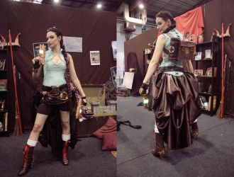 Lara Croft Steampunk - Views by GPhoenix