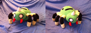 Comm: Spinarak Plush by xxtemporaryinsanity