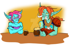 Some beer, bebe? by Horned-Lyzz