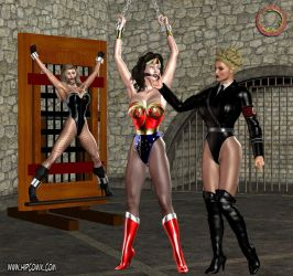 Wonder Woman and Black Canary in trouble by Uroboros-Art