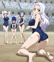 Fairy Tail Swimsuits by Fu-reiji